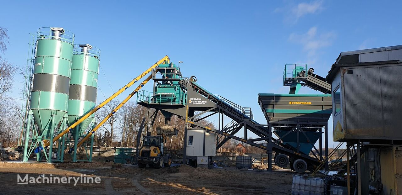 neue CONSTMACH 100 TON CAPACITY MOBILE CONCRETE BATCHING PLANT FOR SALE   CONST Betonmischanlage