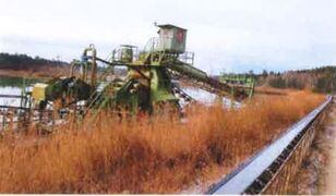 ROHR Bagger Swimming Continuous bucket dredge Schwimmbagger